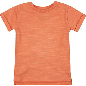 Mini boys coral marl t-shirt