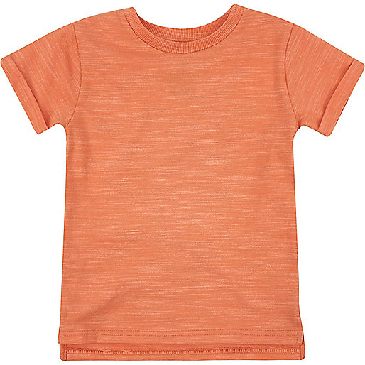 Mini boys coral marl t-shirt