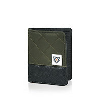 Boys khaki quilted wallet