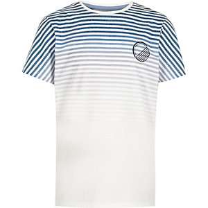 Boys navy stripe print t-shirt
