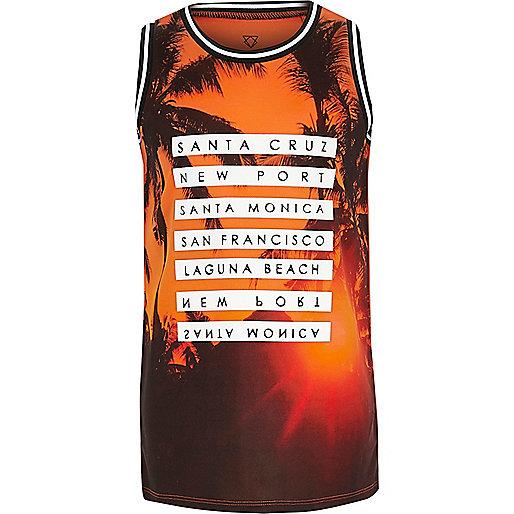 Boys orange Santa Monica vest