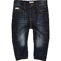 Mini boys dark blue wash skinny jeans