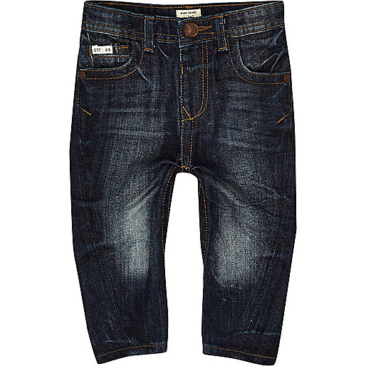 Skinny Jeans in dunkelblauer Waschung
