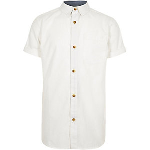 Boys white poplin shirt