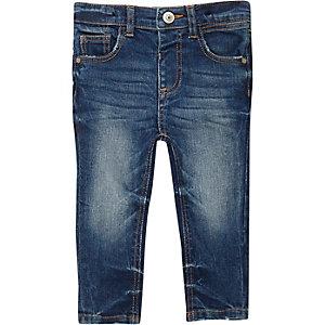 Mini boys mid blue wash skinny jeans