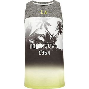 Boys yellow LA print tank