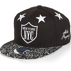 Boys black NYC stars cap