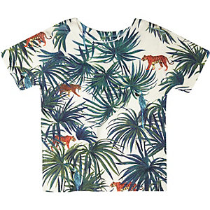 Mini boys palm print t-shirt