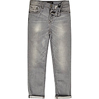 Boys grey wash Dylan slim fit jeans