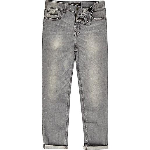Boys grey wash Dylan slim fit jeans