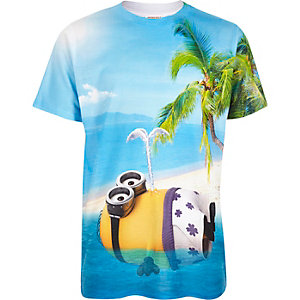 Boys blue Minions print t-shirt