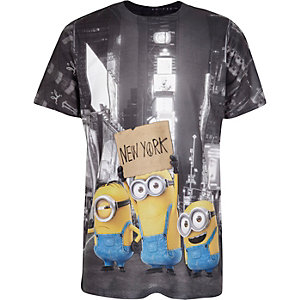 Boys white Minions print t-shirt