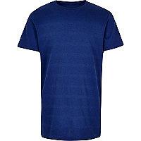 T-shirt bleu texturé pour garçon