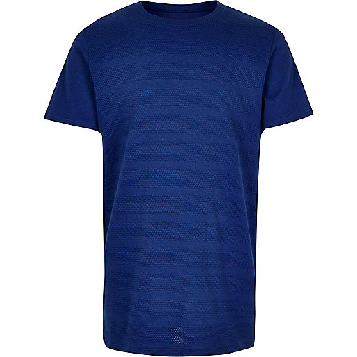 Boys blue textured t-shirt