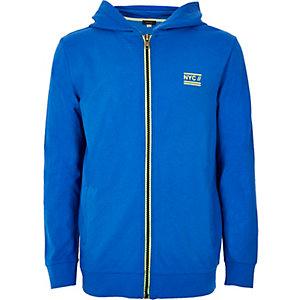 Boys blue lightweight hoodie