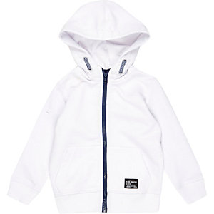 Mini boys white hoodie