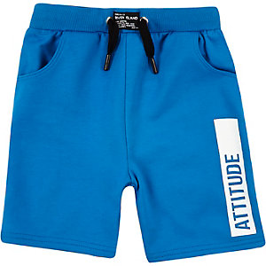 Mini boys blue attitude swim trunks