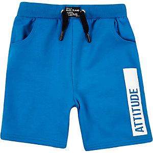Mini boys blue attitude swim trunks
