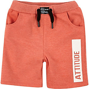Mini boys coral attitude swim shorts