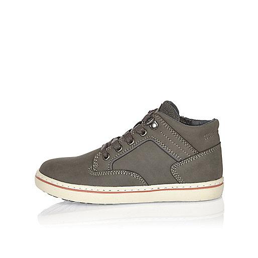 Boys grey demi boots