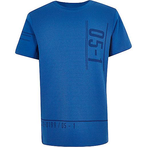 T-shirt bleu marine imprimé sportif