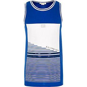 Boys blue print vest