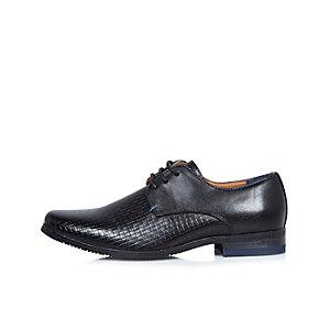 Schwarze, elegante, strukturierte Schuhe