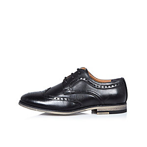 Chaussures richelieu noires pour garçon