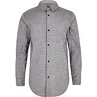 Boys grey snappy shirt
