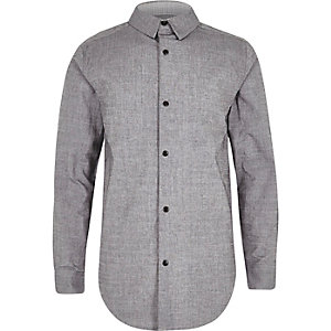Boys grey snappy shirt
