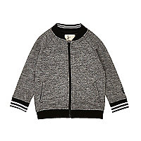 Mini boys grey sporty bomber jacket
