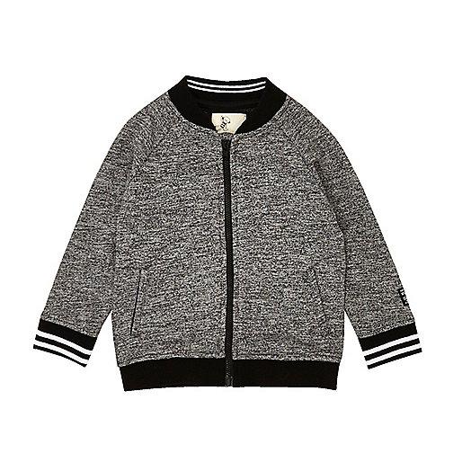 Mini boys grey sporty bomber jacket