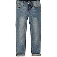 Boys light blue wash Sid skinny jeans