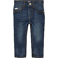 Mini boys dusty blue wash Sid skinny jeans