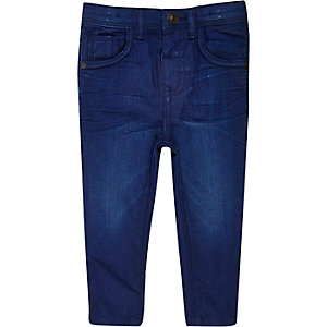 Mini boys blue wash Sid skinny jeans