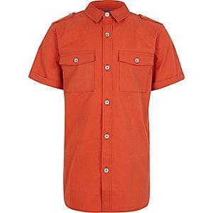 Boys orange military shirt