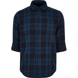 Chemise à carreaux bleue pour garçon