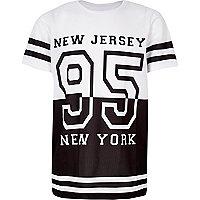 T-shirt sport en tulle blanc pour garçon