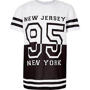 Boys white mesh sporty t-shirt