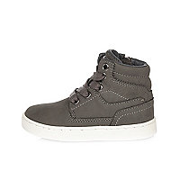 Mini boys grey ankle boots
