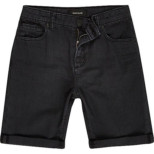 Boys dark grey denim shorts