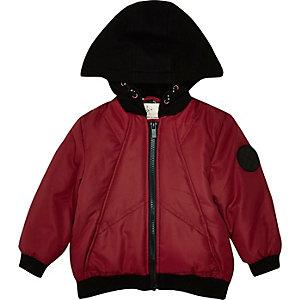 Veste rembourrée rouge à capuche mini garçon