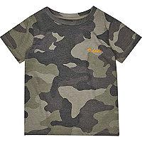 Mini boys khaki camo T-shirt