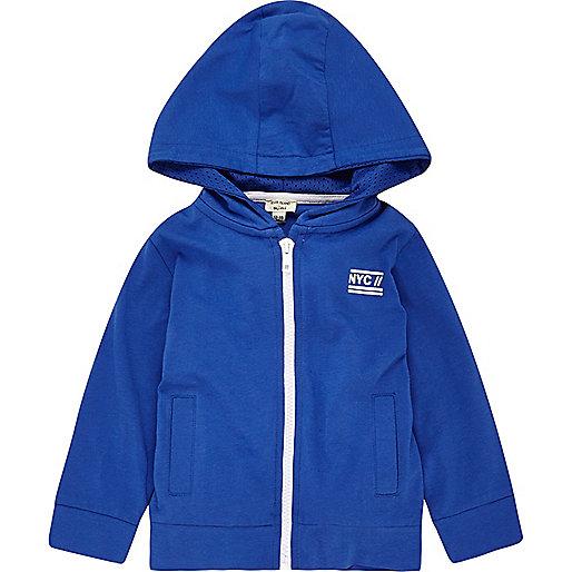Mini boys blue hoodie