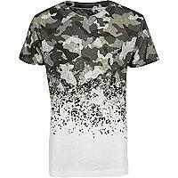 Boys khaki camo T-shirt