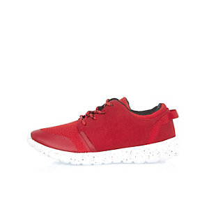 Boys red runner sneakers