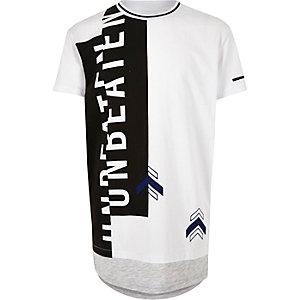 Boys white print layered t-shirt