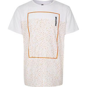 T-shirt imprimé moucheté blanc pour garçon