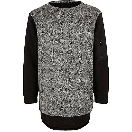 Boys grey double layer sweatshirt