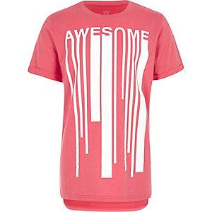 Boys pink print t-shirt